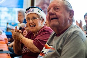 Residents celebrate the holidays